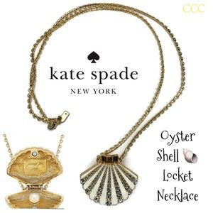 Kate Spade ♠️ Oyster Clam Shell 🐚 Necklace 12KT